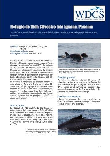 Refugio de Vida Silvestre Isla Iguana, Panamá - sobre las ballenas ...