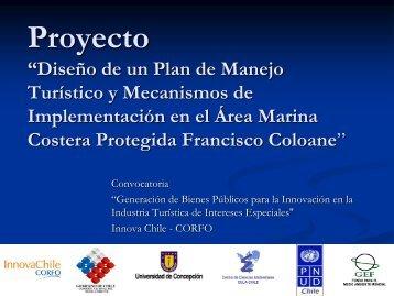 """Proyecto """"Diseño de un Plan de Manejo Turístico y ... - EULA"""