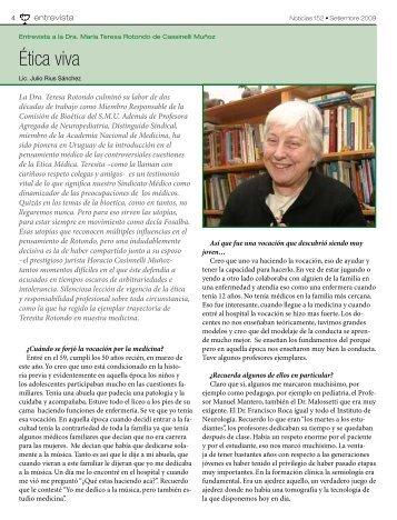 Ética viva - Sindicato Médico del Uruguay