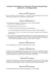 Satzung der Stadt Salzgitter zur Erhebung von ...