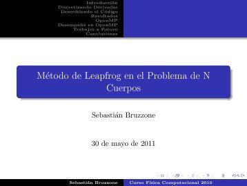 Método de Leapfrog en el Problema de N Cuerpos