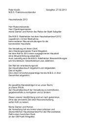 Haushaltsrede der MBS-Fraktion - Stadt Salzgitter