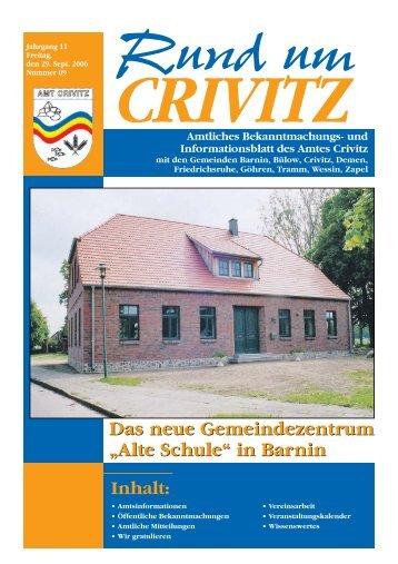 """Das neue Gemeindezentrum """"Alte Schule"""" in Barnin ... - Amt Crivitz"""