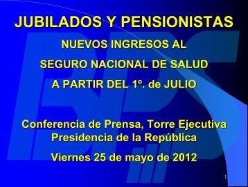 Ingreso Jublilados y Pensionistas al SNS - Presentación E. Murro