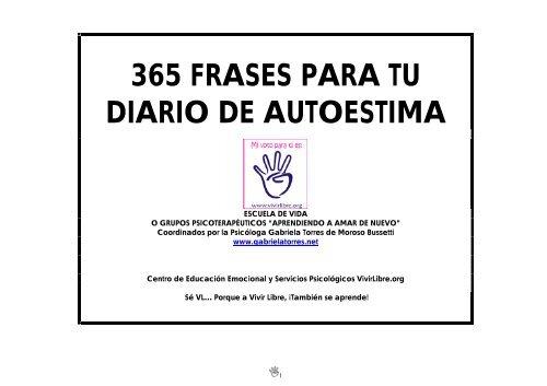 365 Frases Para Tu Diario De Autoestima Vivir Libre