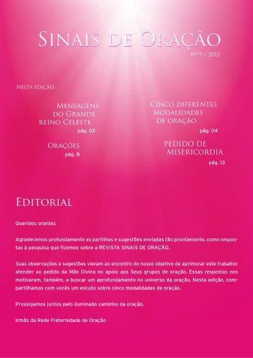 revista sinais de oração nº 9