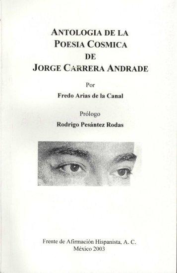 antologia de la poesia cosmica de jorge carrera andrade - Frente de ...