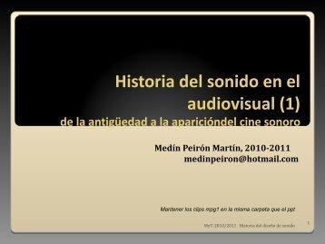 Historia del sonido en el audiovisual - esdi