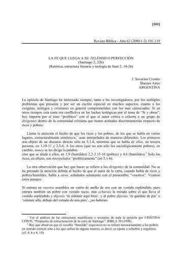 [101] Revista Bíblica - Año 62 (2000/1-2) 101-119 ... - Revista Biblica