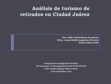 Análisis de turismo de retirados en Ciudad Juárez - Sectur
