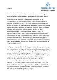 Der neue Themenwanderweg - Das Salzbergwerk Berchtesgaden