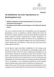 Salzbergwerk / Das Untertage Erlebnis - Das Salzbergwerk ...