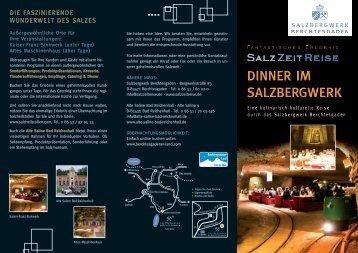 DinnER im SAlzBERgwERK - Das Salzbergwerk Berchtesgaden