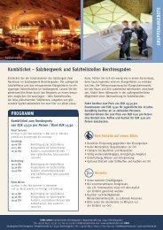 Gruppen an Gebo te Kombiticket – Salzbergwerk und ...