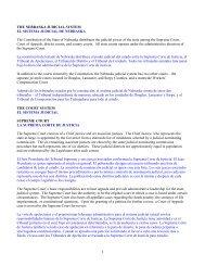 THE NEBRASKA JUDICIAL SYSTEM EL SISTEMA JUDICIAL DE ...