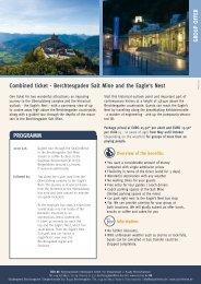 Combined ticket - Berchtesgaden Salt Mine and the Eagle's Nest ...