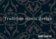 Tradition meets design - sam Vertriebs GmbH + Co. KG