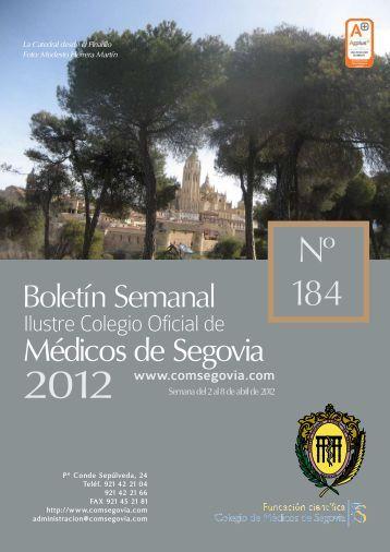 Descargar Boletín Nº 184 - Ilustre Colegio Oficial de Médicos de ...