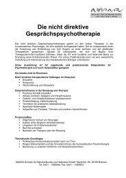 Die nicht direktive Gesprächspsychotherapie - Amara Schulen für ...