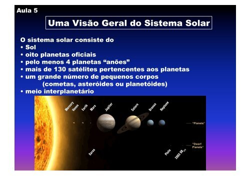 Uma Visão Geral do Sistema Solar