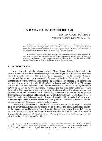 LA TUMBA DEL EMPERADOR JULIANO JAVIER ARCE ... - RUA