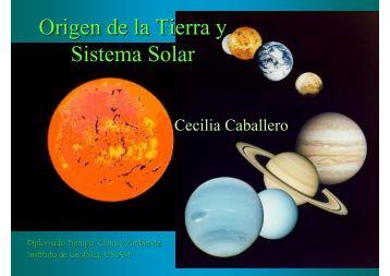 Origen del Sistema Solar y la Tierra (en pdf) - UNAM