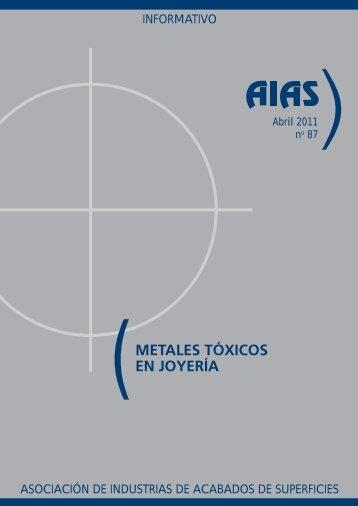 (METALES TÓXICOS EN JOYERÍA - AIAS