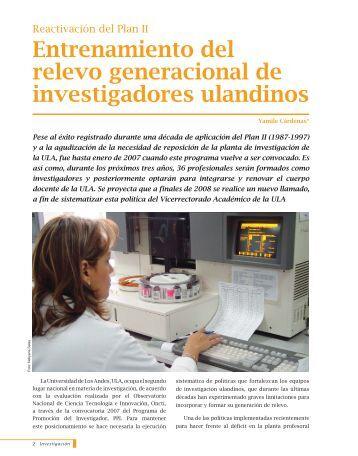 Entrenamiento del relevo generacional de ... - Saber ULA