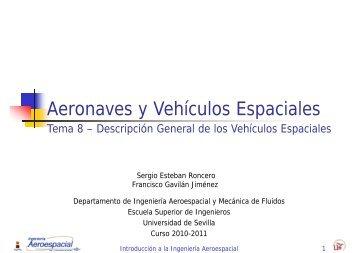 Aeronaves y Vehículos Espaciales - Departamento de Ingeniería ...