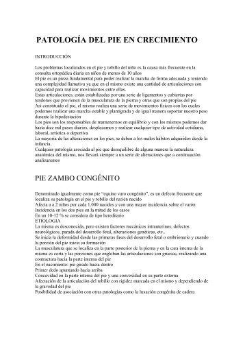 PATOLOGÍA DEL PIE EN CRECIMIENTO - Doctor Jorge Hodgson