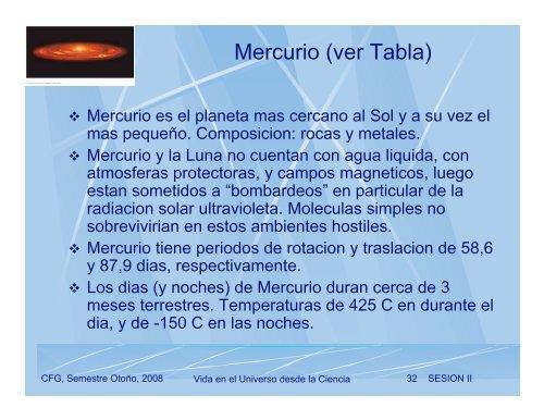 CURSO: Vida en el Universo desde la Ciencia - Universidad de Chile
