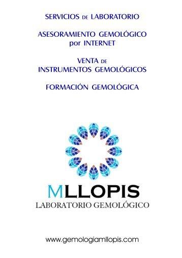 Productos - Servicios -Información - Gemología MLLOPIS