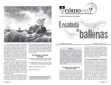 No. 161, p. 16, Ensalada de ballenas - Cómo ves? - UNAM
