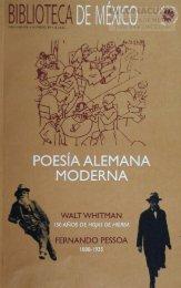 1 POESÍA ALEMANA MODERNA - Dirección General de Bibliotecas ...