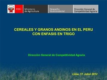 Cereales y Granos Andinos con Énfasis en Trigo