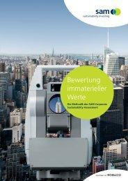 Bewertung immaterieller Werte - Die Methodik des SAM Corporate
