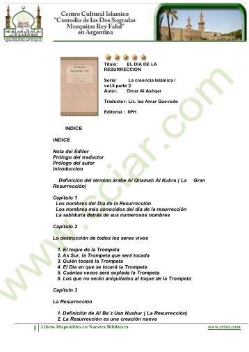 1 Libros Disponibles en Nuestra Biblioteca www.cciar.com INDICE ...