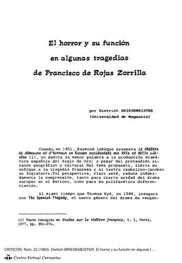 El horror y su función en algunas tragedias de Francisco de Rojas ...