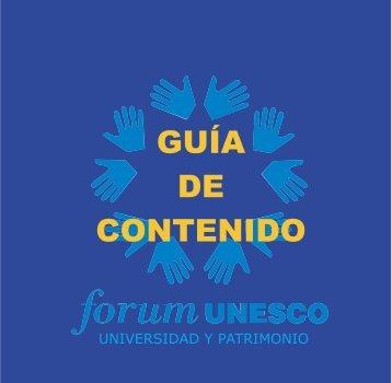 Guia Contenido.FH10 - Forum UNESCO Universidad y Patrimonio