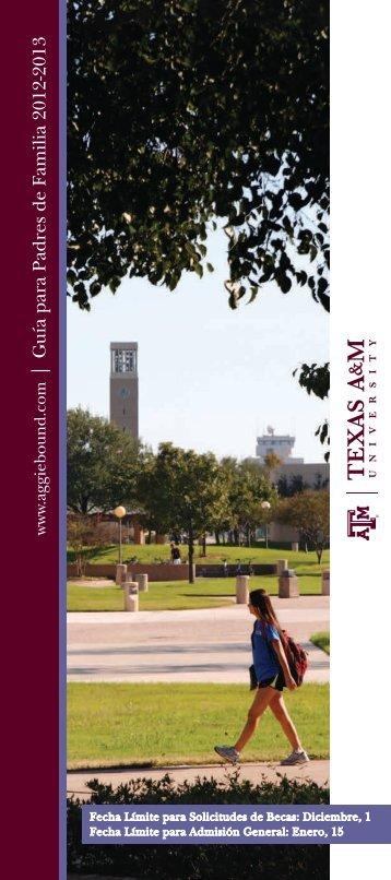| Guía para Padres de Familia 2012-2013 - Admissions - Texas A&M ...