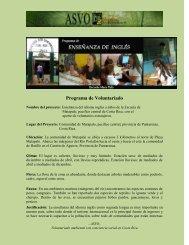 Programa de Voluntariado - Asociación de Voluntarios para el ...