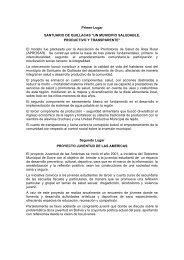 """SANTUARIO DE QUILLACAS """"UN MUNICIPIO SALUDABLE,"""