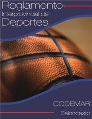 Reglamento Interprovincial de Baloncesto Secundaria ... - inicio