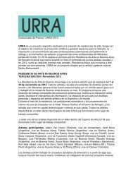 gacetilla residencia 2012 - URRA