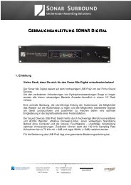 Sonarmix Digital Manual 1 - Ambient Recording