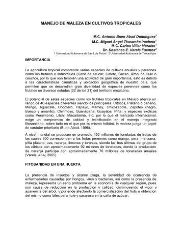 MANEJO DE MALEZA EN CULTIVOS TROPICALES - asomecima