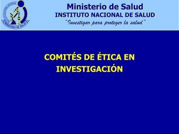 SOSTENIBILIDAD CEI PERU - Instituto Nacional de Salud