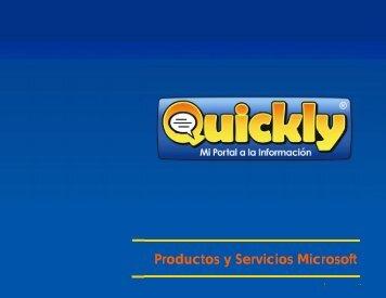 Productos y Servicios Microsoft - Quickly.com.mx