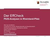 PIUS-Analysen in Rheinland-Pfalz - SAM