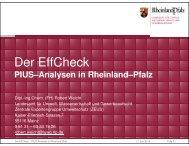 Der EffCheck – PIUS-Analysen in Rheinland-Pfalz - Effizienznetz ...